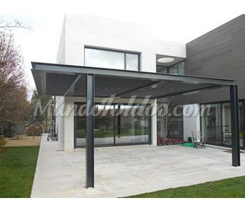 Pergola aluminio de lamas orientables - Perfiles aluminio para pergolas ...
