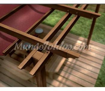 P rgola de aluminio imitaci n madera for Pergolas aluminio precios