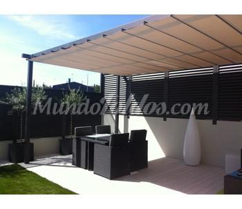 P rgolas terrazas aluminio for Pergolas aluminio precios