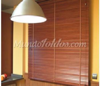 Cortinas y estores venecianas de aluminio y madera for Estores de madera